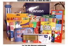 Photo of Les Lots pour le concours de dessin